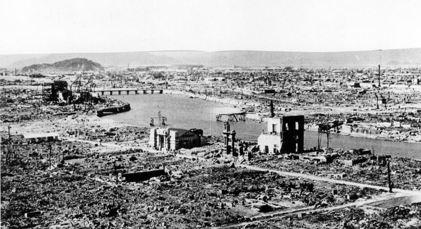 Hiroshima nach dem Atombombenabwurf, 1945