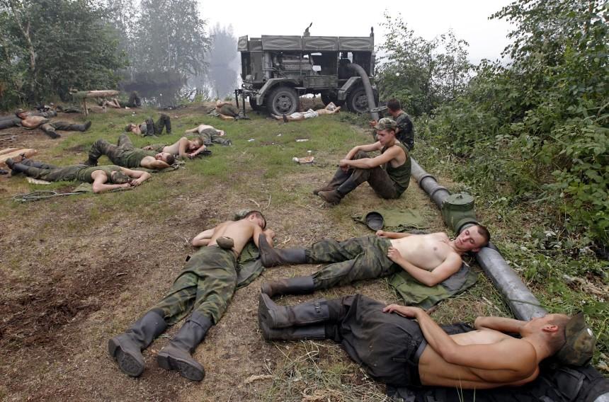 Brände in Russland, dpa