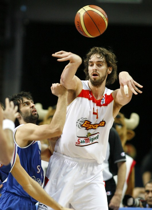 Basketball-EM  Spanien - Serbien