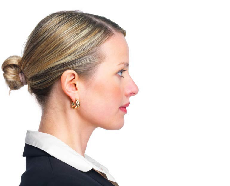 Frau im Profil