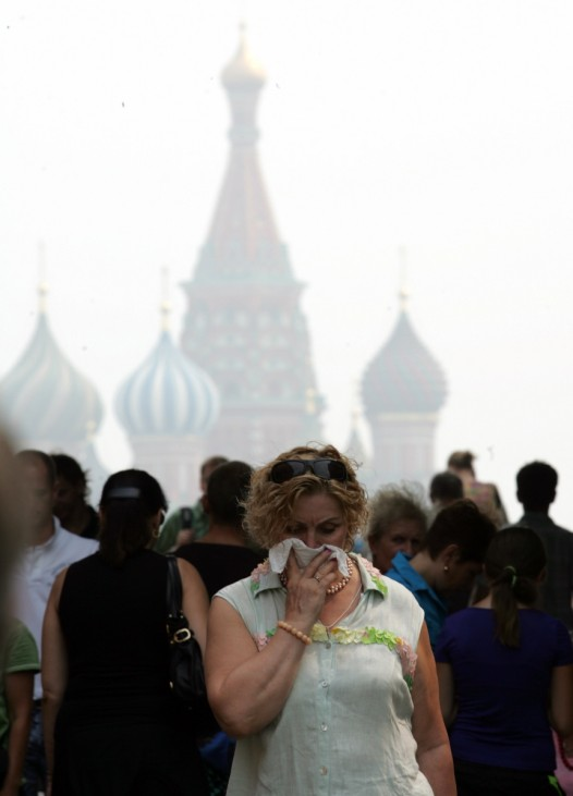Countryside wildfires blanket Moscow in smog