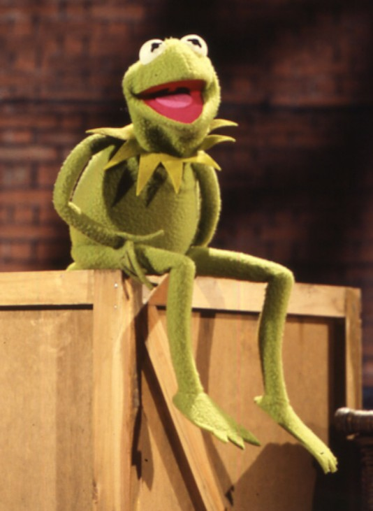 Kermit der Frosch aus der Muppet Show