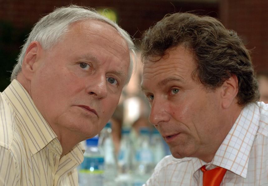 Bundesparteitag WASG - Lafontaine und Ernst