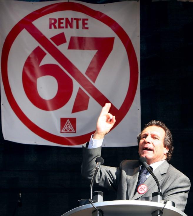 Gewerkschaftsdemonstration gegen Rente mit 67