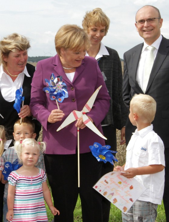 Merkel besucht Bürgerwindpark