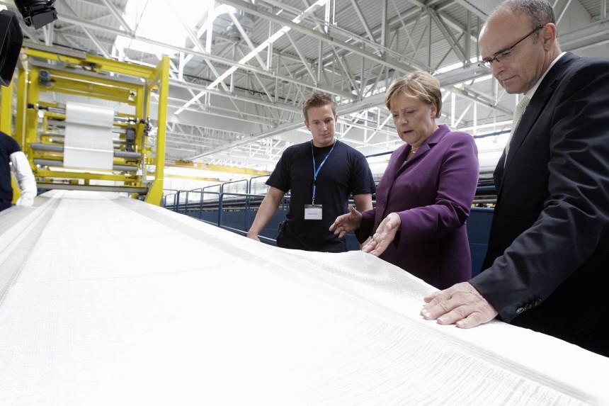 Bundeskanzlerin Angela Merkel auf Energiereise
