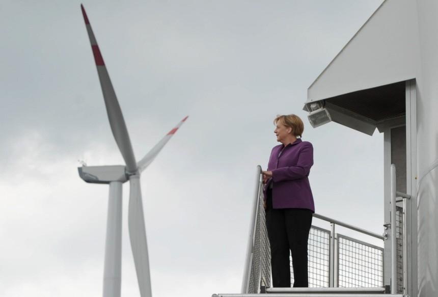 GERMANY-ENVIRONMENT-ENERGY-WIND-MERKEL