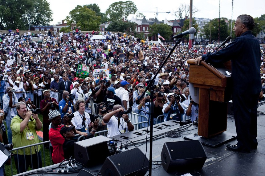 Sharpton Leads March Commemorating Anniversary Of MLK I Have A Dream Speech