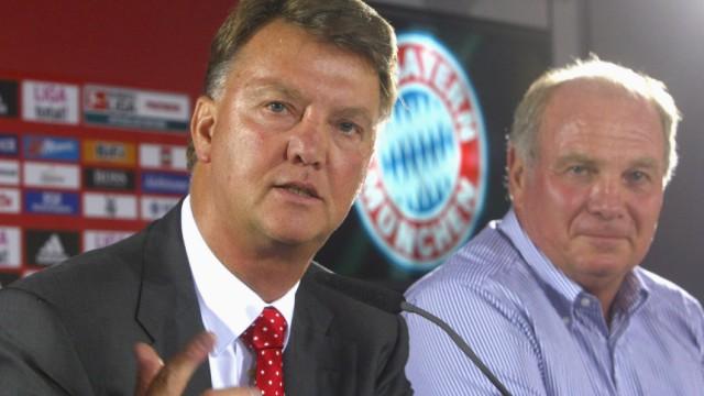 FC Bayern München - Louis van Gaal und Hoeneß