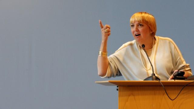 Die Parteivorsitzende der Grünen, Claudia Roth