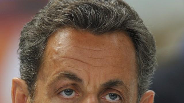 France's President Sarkozy visits nuclear plants pipes manufacturer Valinox