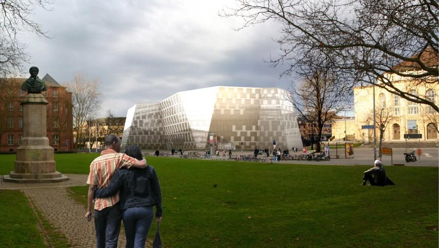 Freiburger Uni-Bibliothek wird fuer 44 Millionen Euro modernisiert