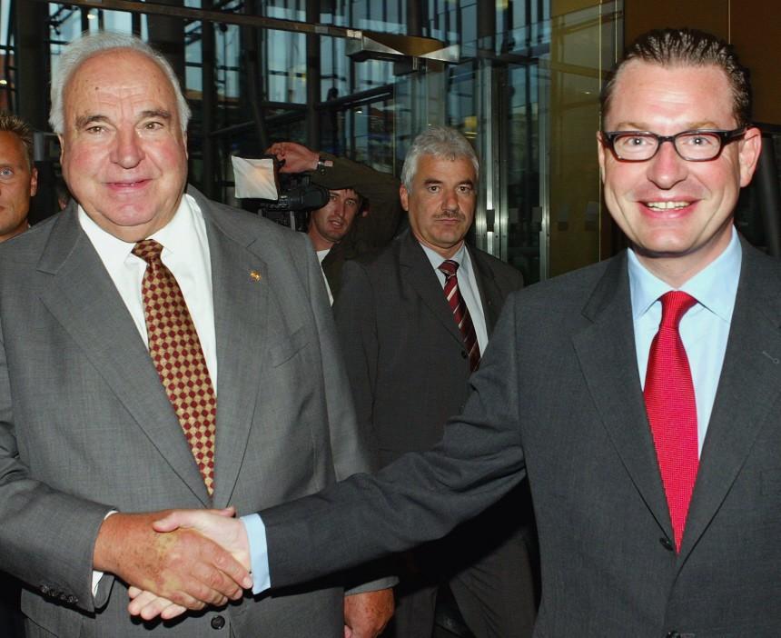 Helmut Kohl und Kai Dieckmann
