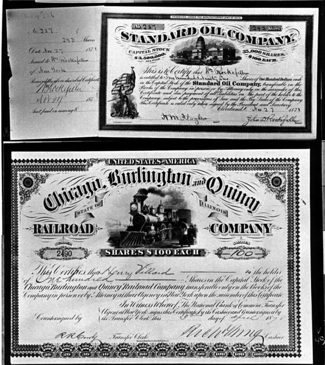 Aktien von 1878 aus USA