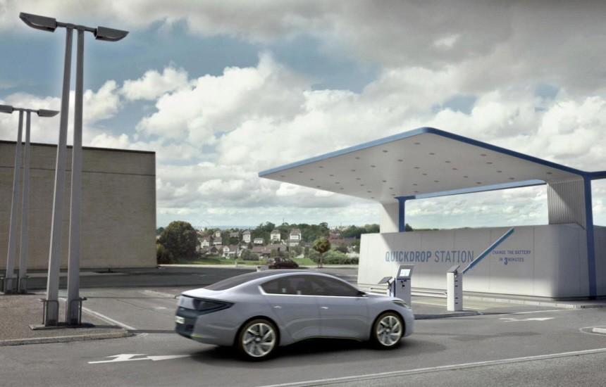 Alternative Antriebe Renault quickdrop station